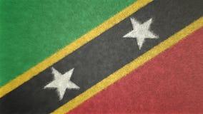 Bild för original 3D, flagga av helgonet Kitts och Nevis royaltyfri illustrationer