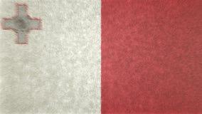 Bild för original 3D, flagga av Malta stock illustrationer