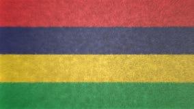 Bild för original 3D, flagga av Mauritius stock illustrationer