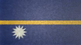 Bild för original 3D, flagga av Nauru royaltyfri illustrationer