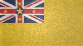 Bild för original 3D, flagga av Niue vektor illustrationer