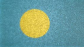 Bild för original 3D, flagga av Palau stock illustrationer