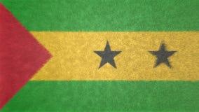 Bild för original 3D, flagga av São Tomé och PrÃncipe royaltyfri illustrationer