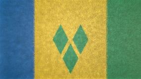 Bild för original 3D, flagga av Saint Vincent och Grenadinerna royaltyfri illustrationer