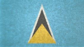 Bild för original 3D, flagga av St Lucia vektor illustrationer