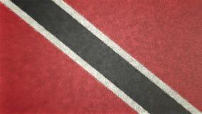 Bild för original 3D, flagga av Trinidad och Tobago royaltyfri illustrationer