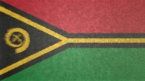 Bild för original 3D, flagga av Vanuatu royaltyfri illustrationer