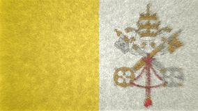 Bild för original 3D, flagga av Vatican City royaltyfri illustrationer