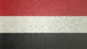 Bild för original 3D, flagga av Yemen royaltyfri illustrationer