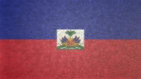 Bild för original 3D, Haiti flagga stock illustrationer
