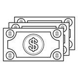 Bild för symbol för valutaräkning Royaltyfria Foton
