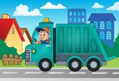 Bild 2 för tema för lastbil för avskrädesamling Royaltyfri Fotografi