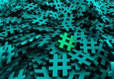 Bild för tolkning 3d för oändliga hashtags original- Royaltyfria Bilder