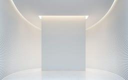 Bild för tolkning 3d för tomt utrymme för vitt rum modernt inre Arkivbild