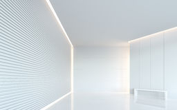 Bild för tolkning 3d för tomt utrymme för vitt rum modernt inre Royaltyfri Bild