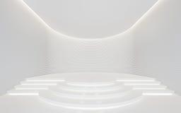 Bild för tolkning 3d för tomt utrymme för vitt rum modernt inre Royaltyfri Foto