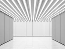 Bild för tolkning 3d för tomt utrymme för vitt rum modernt inre Arkivbilder