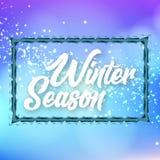 Bild för vektor för bakgrund för gräns för vintersäsongis Royaltyfria Bilder