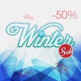 Bild för vektor för bakgrund för vinterSale blått Royaltyfri Bild