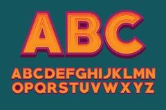 Bild för vektor för bokstav för stilsortsdesignalfabet Vektor för engelskt alfabet Royaltyfri Bild