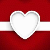 Bild för vektor för hjärtarambakgrund Royaltyfria Foton