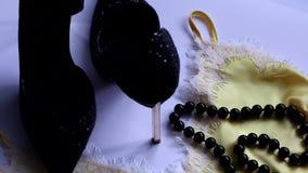 Bild für Modezeitschrift oder Schönheitsblog stock footage