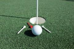 Bild från en frodig golfbana Royaltyfria Bilder