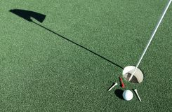 Bild från en frodig golfbana Arkivfoton