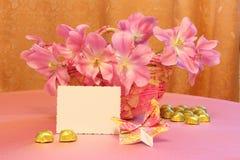 Bild för kort eller för påsk för moderdag - materielfoto Royaltyfri Bild