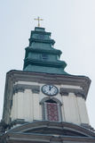 Bild-griechische katholische Kirche in der Kleinstadt Lizenzfreie Stockfotos