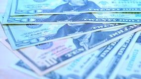 Bild grund dof för closeup för USA dollarmakro Arkivfoton