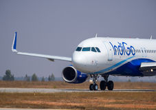 Bild Indigo-Fluglinien-Airbusses 320-Stock Lizenzfreie Stockfotos