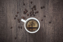 Bild innerhalb der Kaffeekappe Lizenzfreie Stockbilder