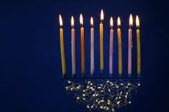 Bild jüdischen Feiertag Chanukka-Hintergrundes Lizenzfreie Stockbilder