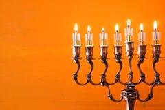 Bild jüdischen Feiertag Chanukka-Hintergrundes Stockfotos