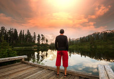 Bild Lake royaltyfri bild