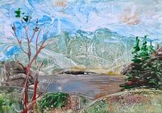 Bild, malende Landschaft stock abbildung