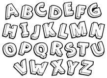 Bild med alfabettema 4 Arkivbild