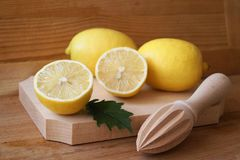 Bild med citroner Arkivbilder