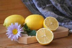 Bild med citroner Arkivfoton