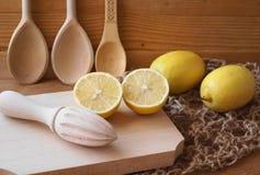 Bild med citroner Fotografering för Bildbyråer