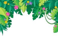 Bild med djungeltema 3 Arkivbild