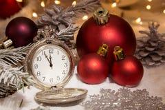 Bild med en klocka fotografering för bildbyråer