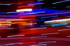 Bild med ljusa slingor Arkivfoton