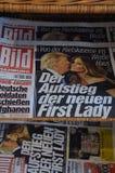 BILD NEWSPAPER_PRESIDENT VÄLJER TRUMF Royaltyfri Fotografi