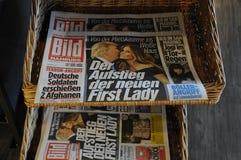 BILD NEWSPAPER_PRESIDENT VÄLJER TRUMF Royaltyfri Foto