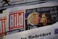 BILD NEWSPAPER_PRESIDENT VÄLJER TRUMF Royaltyfri Bild
