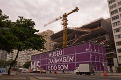 Bild- och ljudmuseumkonstruktion Arkivbilder