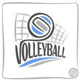 Bild på volleybolltemat Royaltyfria Bilder