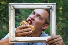 Bild perfektes BBQ-Sandwich Stockfotografie
